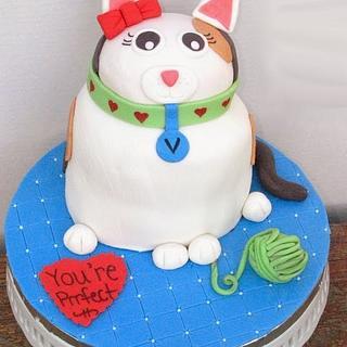 Sculpted Cat Cake