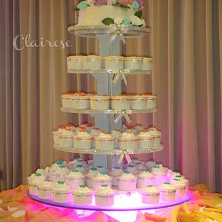5 Tier Wedding themed cake tower - Cake by AnnCriezl
