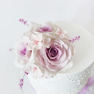 roses and lavender - Cake by Alina Vaganova
