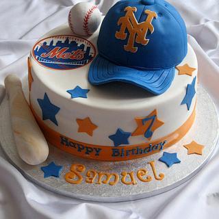 NY Mets cake & cupcakes