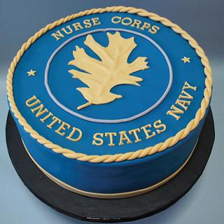 Navy Nurse Corps - Cake by Anchored in Cake