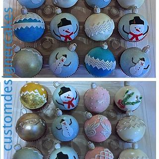 Christmas Ornaments Cupcakes - Cake by Anna