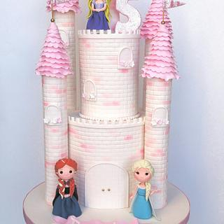 Princess Castle with Modelling Paste Figurines