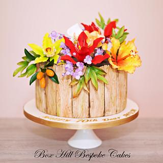 Latest flower cake - Cake by Noreen@ Box Hill Bespoke Cakes