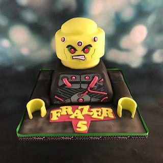 Lego Brainiac Cake