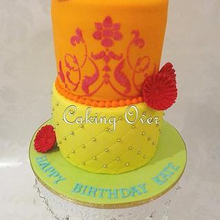 Colourful Gerbera Cake  - Cake by Amanda Brunott