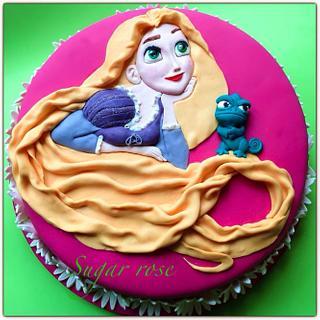 Rapunzel - Cake by SugarRose
