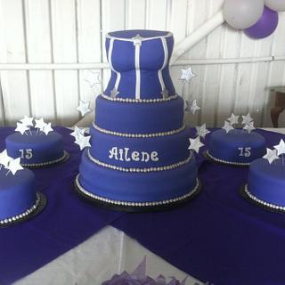 Quinceañera Corset Cake