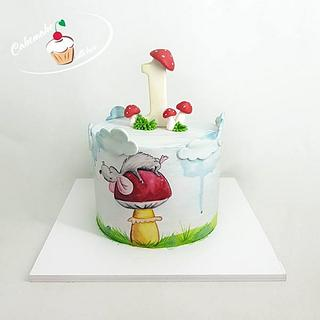 Mouse kids cake