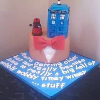 Doctor Who inspired birthday cake  - Cake by Jenn Szebeledy  ( Cakeartbyjenn_ )
