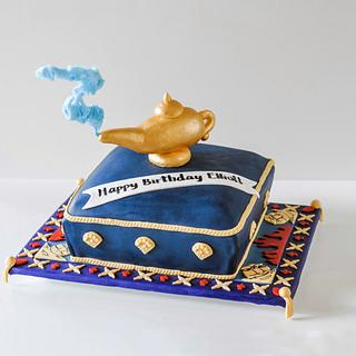 Aladdin Themed Pillow Cake