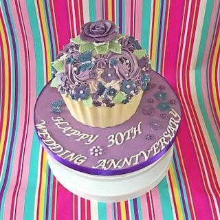 Anniversary Giant Cupcake - Cake by Jules
