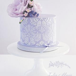 Lilac Floral Cake