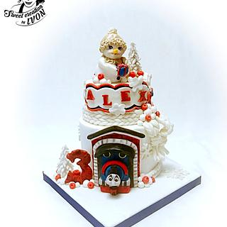 Winter cake/Thomas the Train