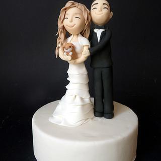 Topper wedding - Cake by Clara