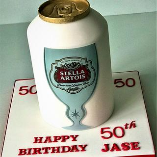 Stella Artois Can - Cake by Lorraine Yarnold