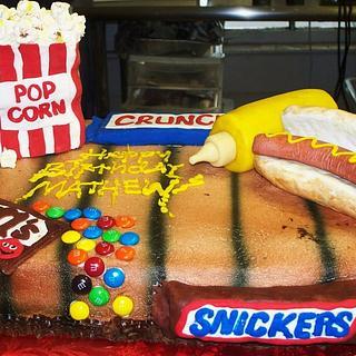 Junk Food Birthday Cake