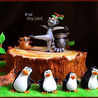 King Julien & the penguins