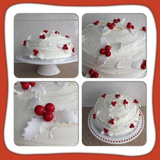 White Holly Cake - Cake by CakesbyCorrina