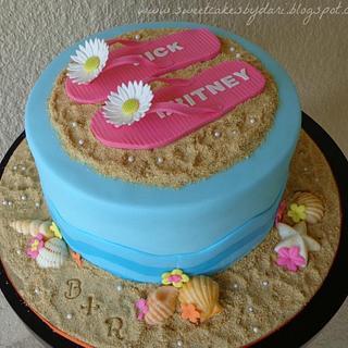 Sandal's Beach Bridal Shower Cake + Tutorial!