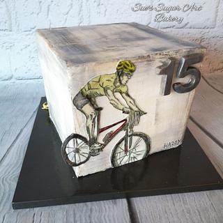 Double sided birthday cake - Cake by Sue's Sugar Art Bakery