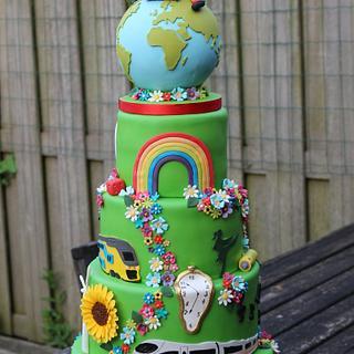 Literally a Green weddingcake