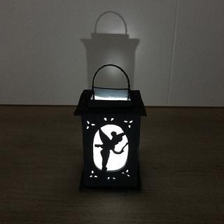Sugar paste silhouette lantern