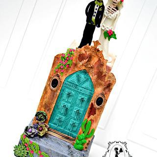Sugar Skulls Collaboration - La Catrina Wedding Cake