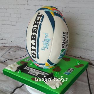 England 2015 Rugby Ball Cake