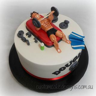 Gym Body Builder 21st Cake - Cake by Custom Cake Designs