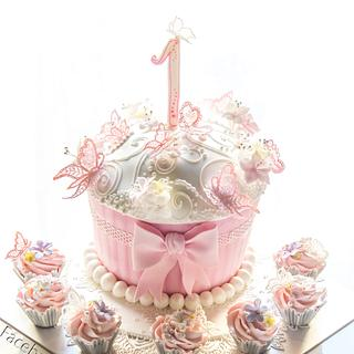 Baby Butterfly Cake