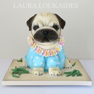 Paulo The Pug - Cake by Laura Loukaides