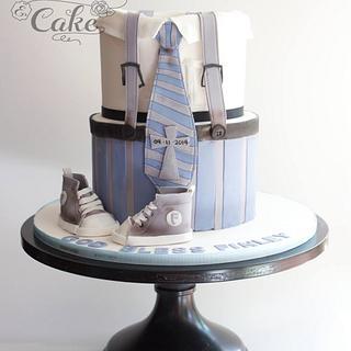 Chritening suit cake