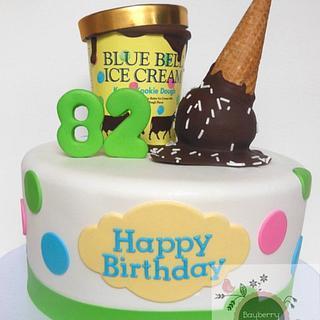Ice cream theme - Cake by Cathy Moilan