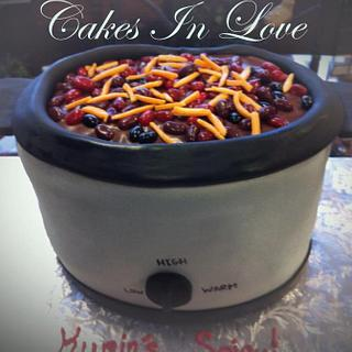 Chili Cook off Crockpot Cake - Cake by Amy
