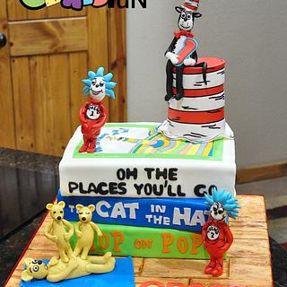 Dr. Seuss Book Cake - Cake by Cakes For Fun