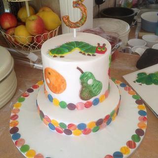 Hungry Caterpillar rainbow cake - Cake by Kasserina Cakes