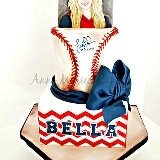 Peachy Softball Birthday 2 Cakes Cakesdecor Personalised Birthday Cards Paralily Jamesorg