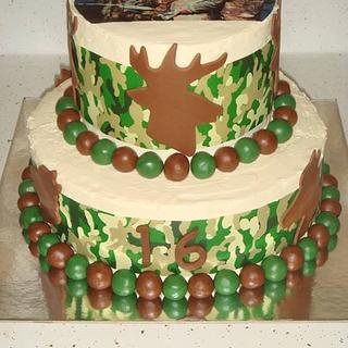 Sweet 16 Duck Dynasty Camo Cake  - Cake by m1bame