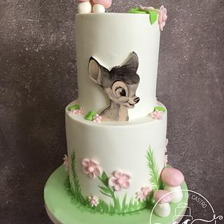 Bambi birthday cake