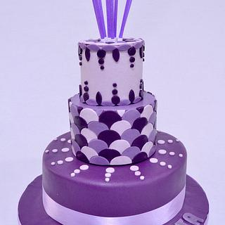 """Art Deco"" Cake"