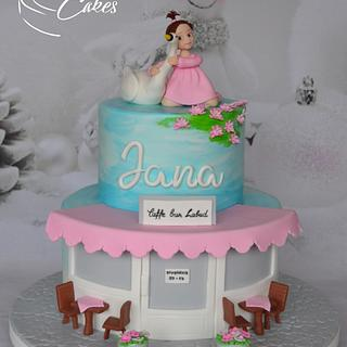 LITTLE GIRL AND SWAN - Cake by Zaklina
