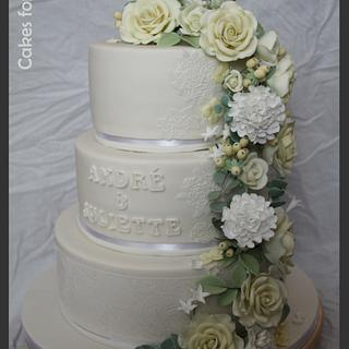Waterfall wedding cake - Cake by Cakes for Fun_by LaLuub