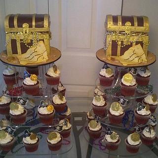 Treasure Chest Cupcake Towers