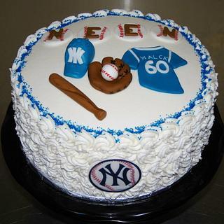 60th Birthday Party Cake NY Yankee Theme