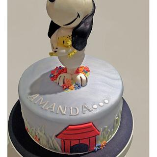 Snoopy and friend