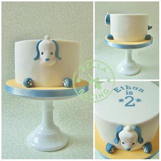 Rotund doggy cake
