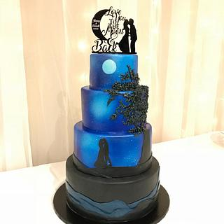 Love you to the Moon and Back  - Cake by HotCakes by Tara