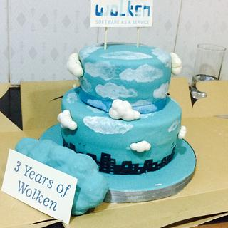 Corporate aniversary cake