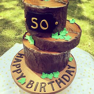 50th birthday for a logger